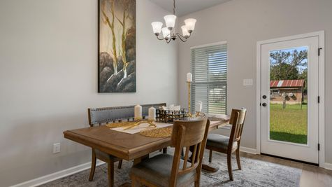 DSLD Homes - Liberty IV H - Cambre Oaks - Gonzales, LA - Model Home Dining Room
