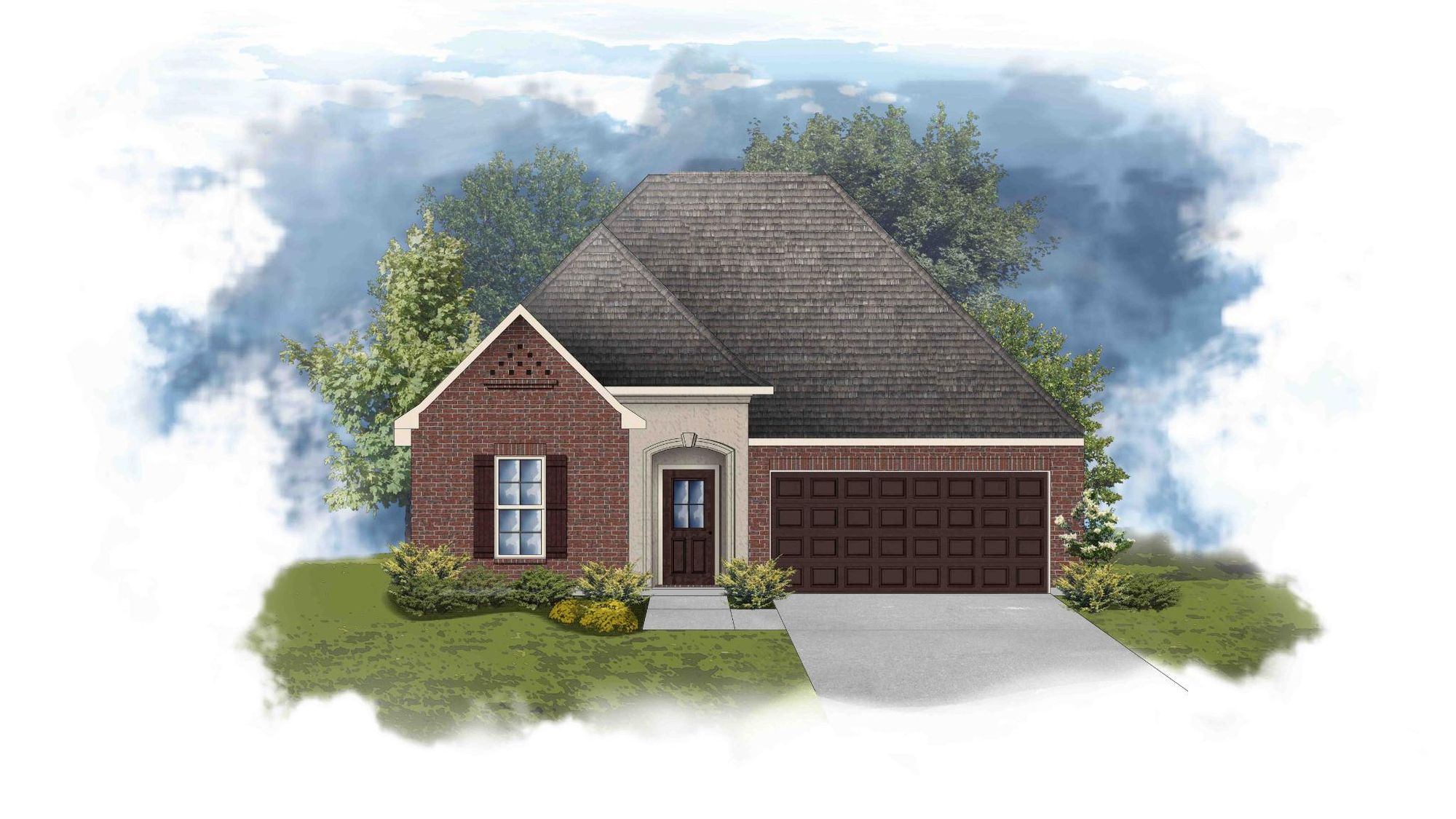Trevi III A - Front Elevation - DSLD Homes
