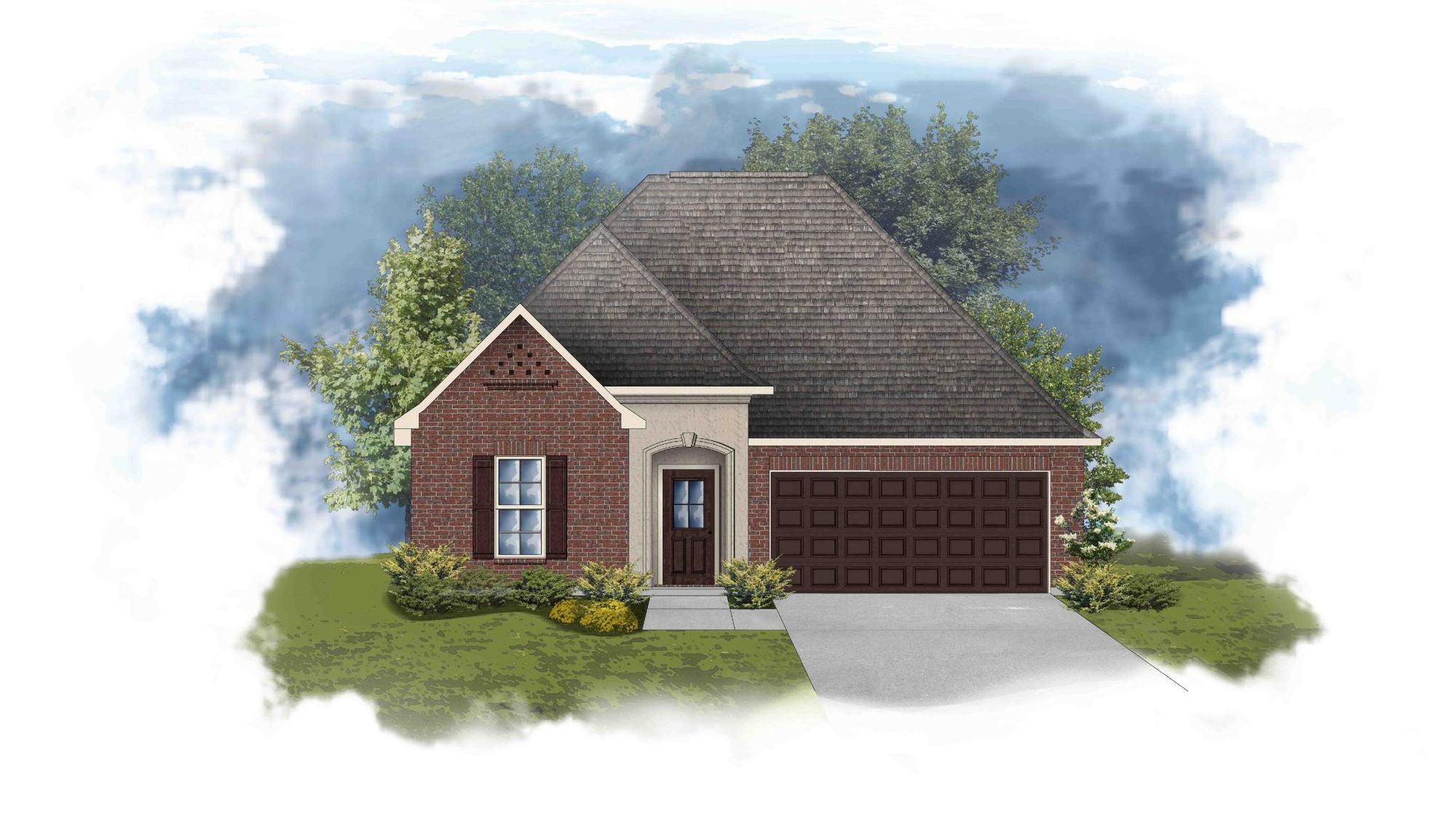 Trillium III A - Front Elevation - DSLD Homes