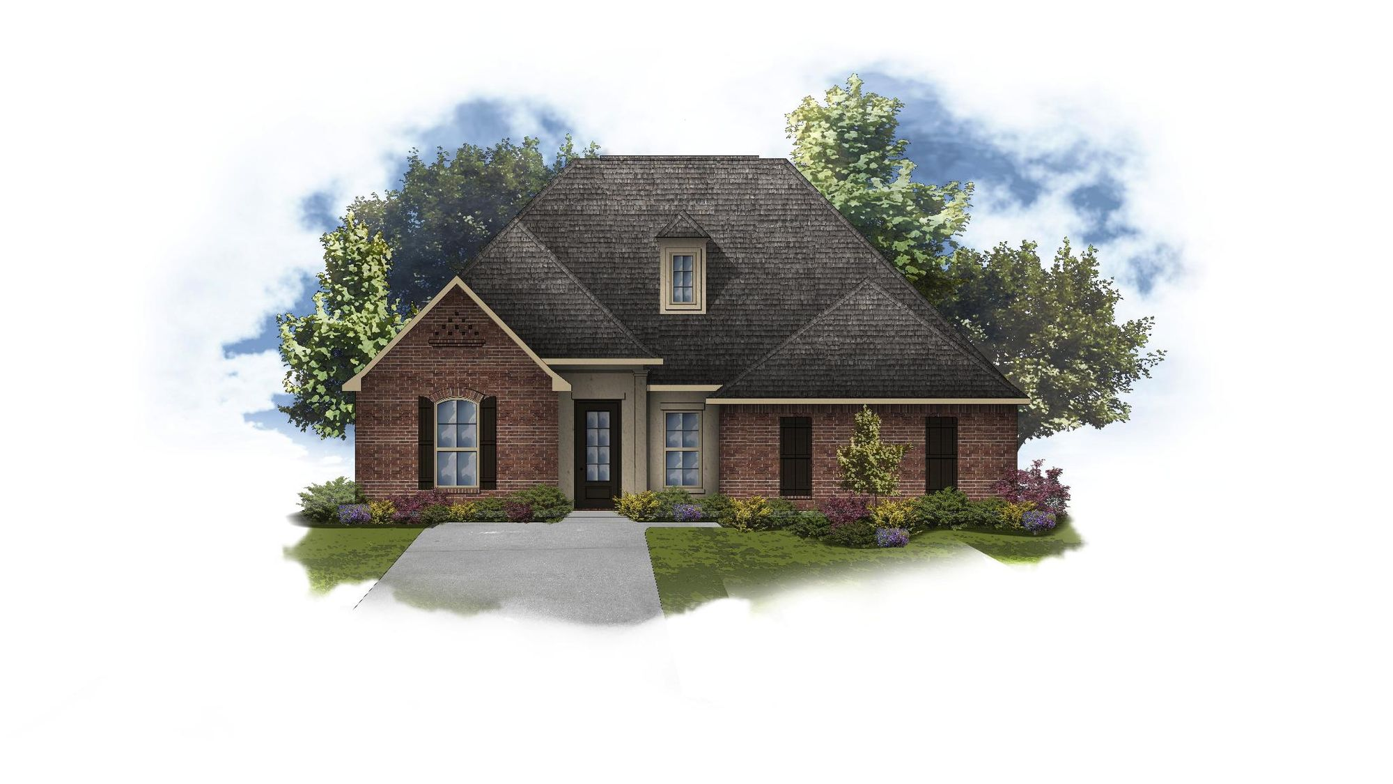 Harmand II A - Front Elevation - Open Floor Plan