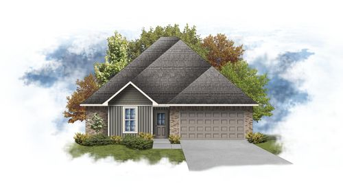 Blackburn III G - Front Elevation - DSLD Homes