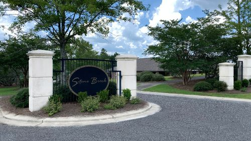 Stone Brook Front Entrance Sign - DSLD Homes - Spanish Fort, Alabama