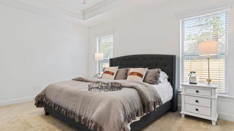 The Preserve at Gray's Creek - Harmand II A - DSLD Homes - Model Home Master Bedroom