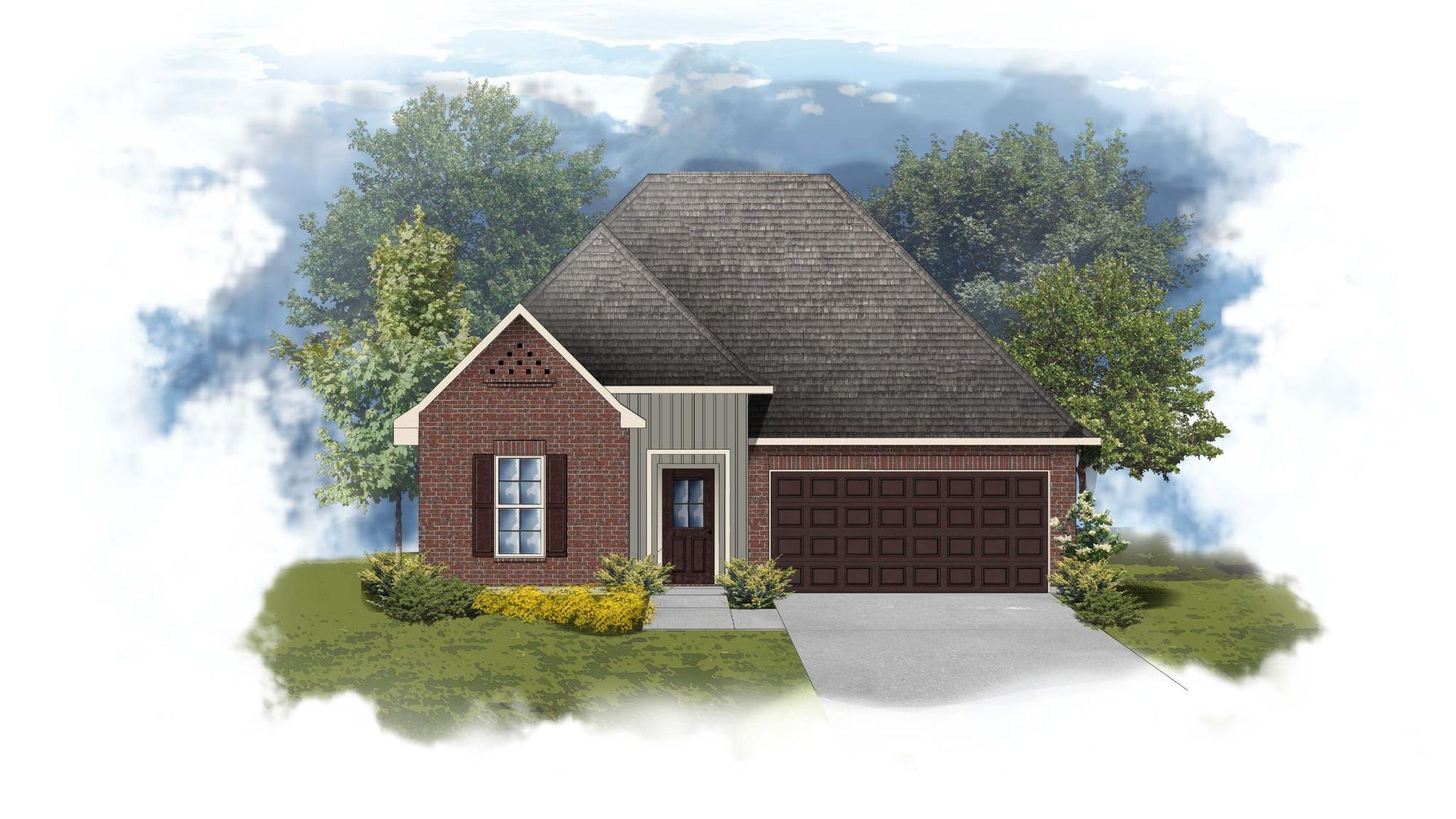 Trinity III G - Front Elevation - DSLD Homes