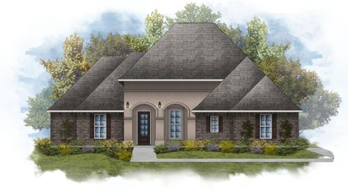 Deacon IV A - Front Elevation - DSLD Homes