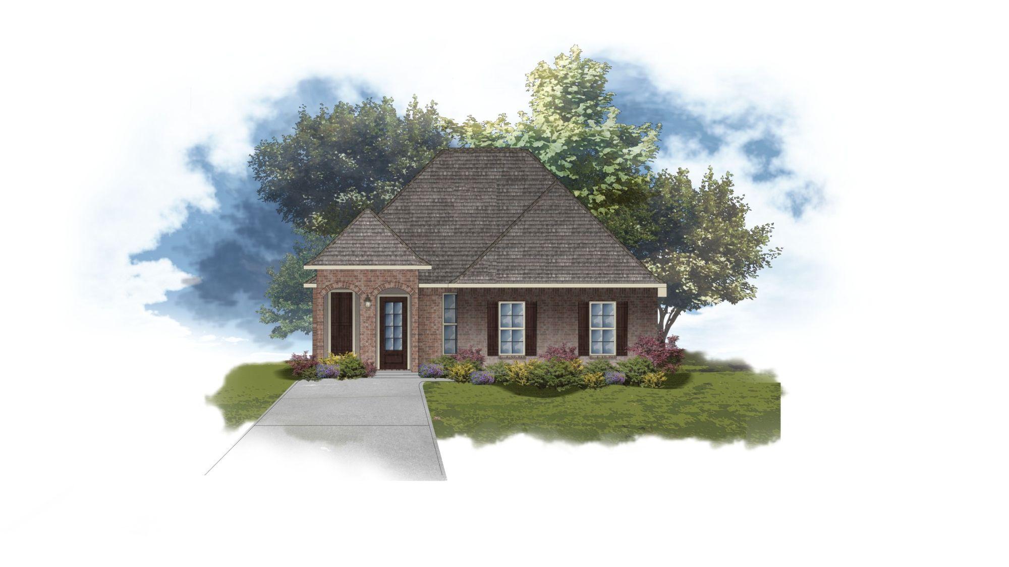 DSLD Homes - Ricci II B Open Floorplan Elevation Image