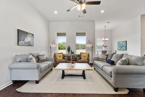 Lakeside Terrace - Model Home Living Room - DSLD Homes - Rowland IV B - Prairieville, LA