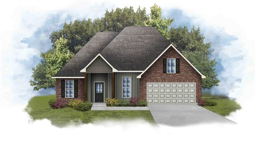 Rowland IV H - Front Elevation - DSLD Homes