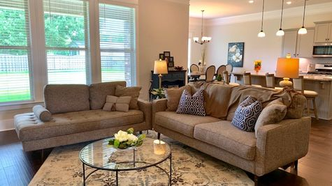 Living Room - Nature's Trail - DSLD Homes Huntsville