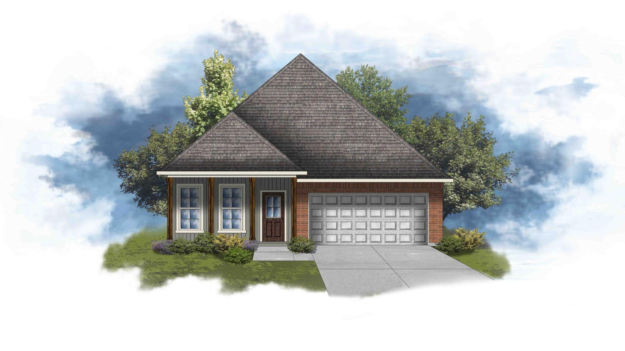 Oakridge IV H - Front Elevation - DSLD Homes