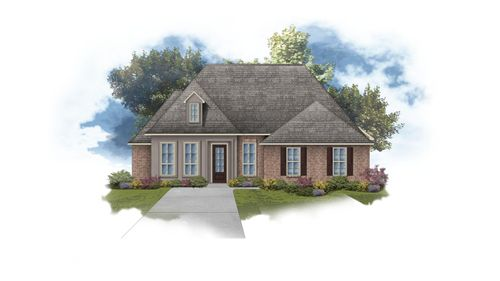 Delacroix II A - Front Elevation - DSLD Homes
