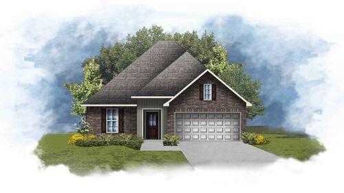 Raeford III G - Front Elevation - DSLD Homes