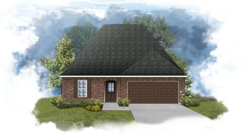 Narbonne III B Open Floorplan Elevation - DSLD Homes