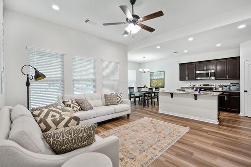Hunter's Ridge Model Home Living Room - DSLD Homes - Denham Springs, LA