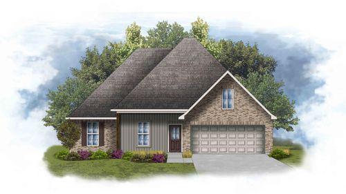 DSLD Homes - Iris IV H Open Floorplan Elevation Image