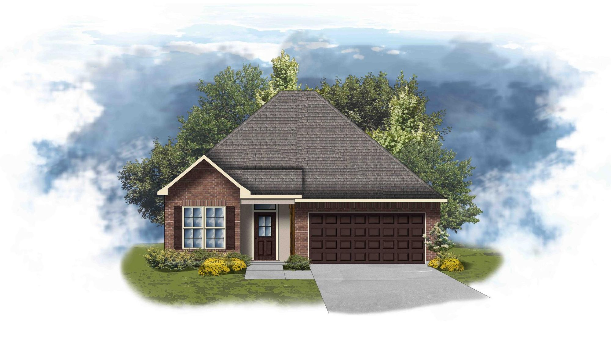 Birch II A - Front Elevation - DSLD Homes