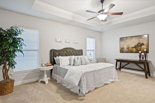 The Settlement at Live Oak - Model Home Master Bedroom - DSLD Homes - Renoir III C - Thibodaux, LA