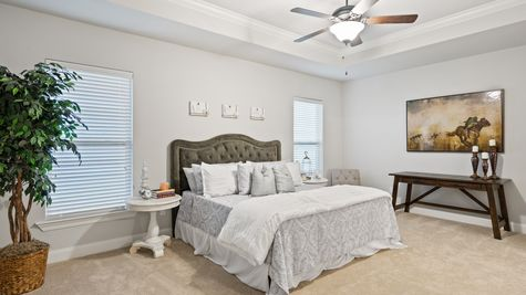 Master Suite with Decor - The Settlement at Live Oak - DSLD Homes Thibodaux