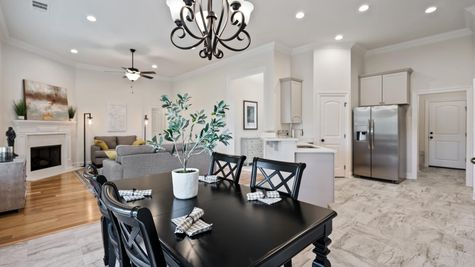 Fairview Gardens Model Home Dining Room - DSLD Homes- Zachary, LA
