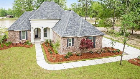 Front of Model Home - Spring Lakes- DSLD Homes Covington