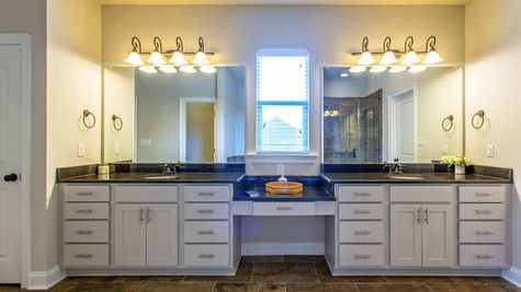 Master Bathroom in Model Home - DSLD Homes - Spanish Fort - Highland Park