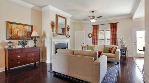 King George Estates Model Home Living Room - King George Estates Community - DSLD Homes - Thibodaux