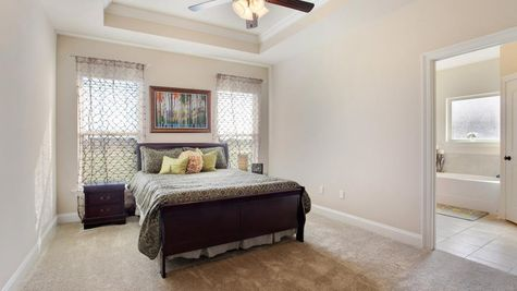 King George Estates Model Home Master Bedroom - King George Estates Community - DSLD Homes - Thibodaux