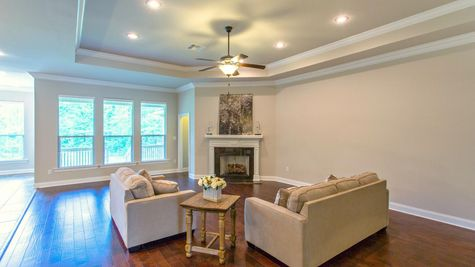 Living Room in Model Home - DSLD Homes - Spanish Fort - Highland Park