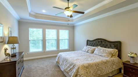 Master Bedroom in Model Home - DSLD Homes - Spanish Fort - Highland Park