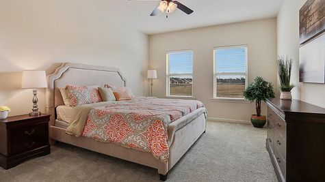 Master Suite with Decor - Belle Savanne - DSLD Homes Lake Charles
