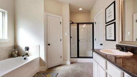 King George Estates Model Home Master Bathroom - King George Estates Community - DSLD Homes - Thibodaux