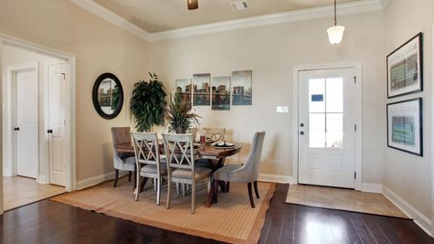 King George Estates Model Home Dining Room - King George Estates Community - DSLD Homes - Thibodaux