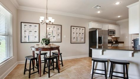 King George Estates Model Home Breakfast Dining Room - King George Estates Community - DSLD Homes - Thibodaux