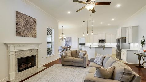 Living Room with Decor - Spring Lakes- DSLD Homes Covington