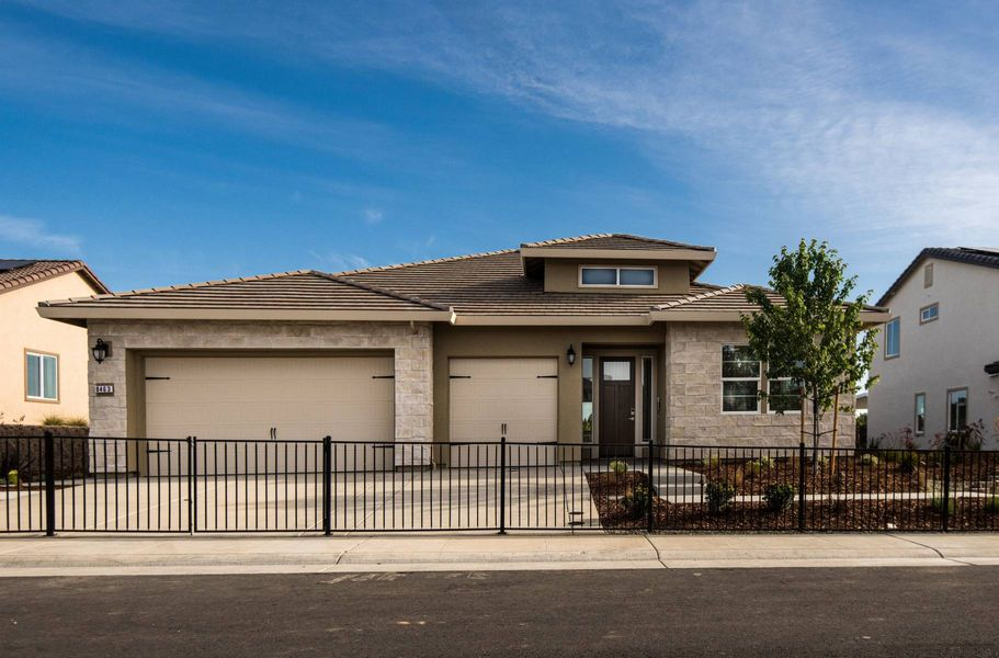 exterior of new homes in roseville ca