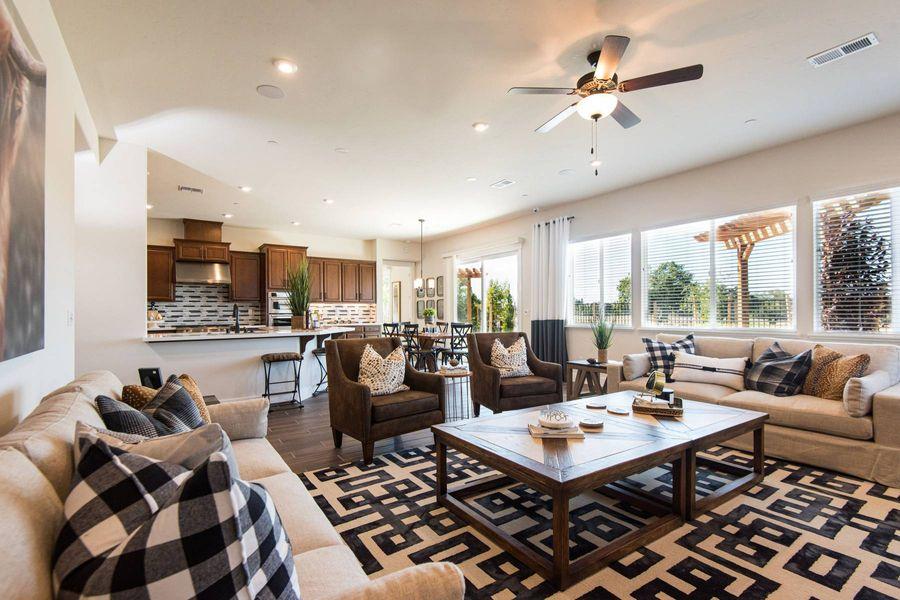 open floor plan in a new home in roseville ca by elliott homes