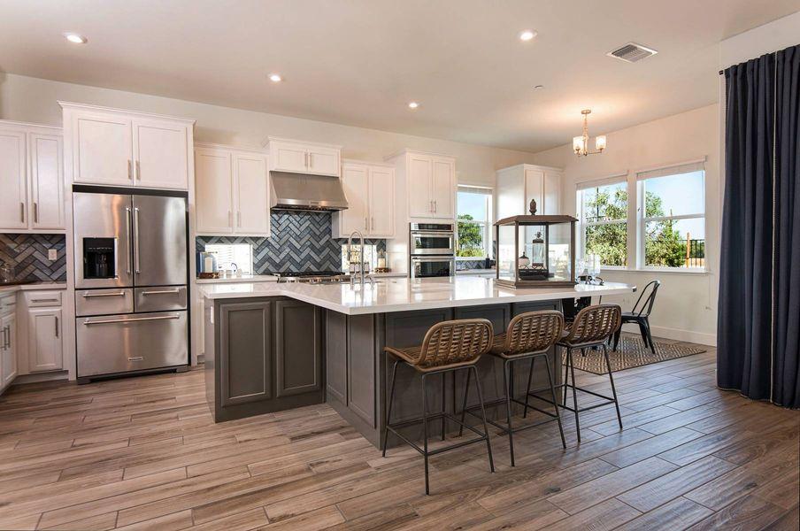 kitchen in a new elliott home