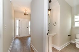 Foyer and powder room to right - *customer selections*