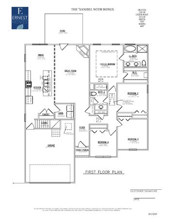 The Sanibel Floor Plan Ernest Homes