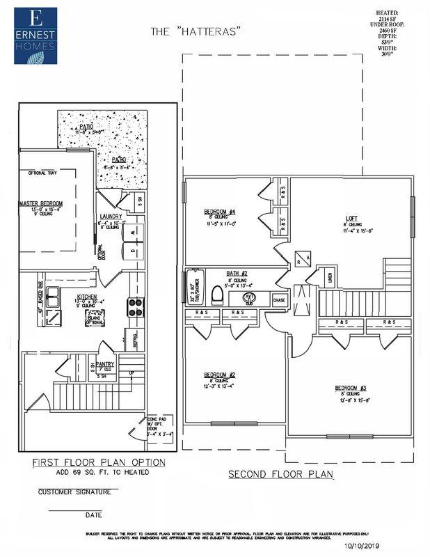 2nd floor and 1st floor option 1