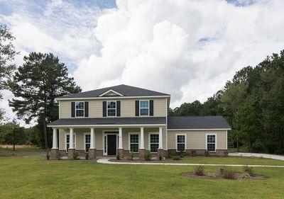 Elevation D with side entry garage - per community standards