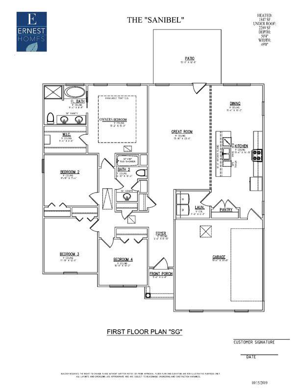 Floor plan side entry garage