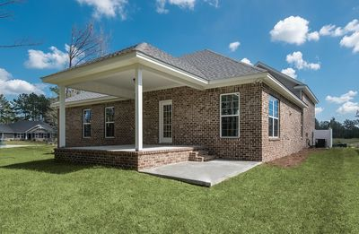 Back elevation with covered porch