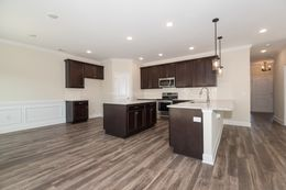 Kitchen with waisncoting and  breakfast bar flat ILO of raised