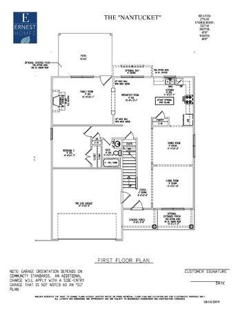 The Nantucket Floor Plan Ernest Homes