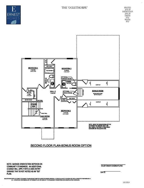 2nd floor with optional bonus room