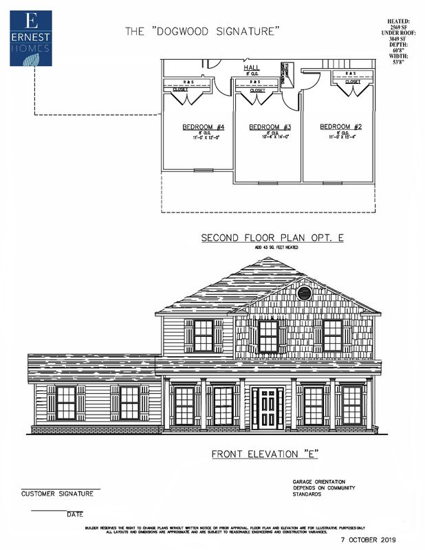 2nd floor option with Elevation E