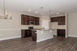 Kitchen previously built *custom Selections* -  Customer added LVT flooring, Pendant lights and a backsplash