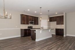 Kitchen previously built *custom Selections* -  Customer added LVT flooring, Pendant lights and a backsplash