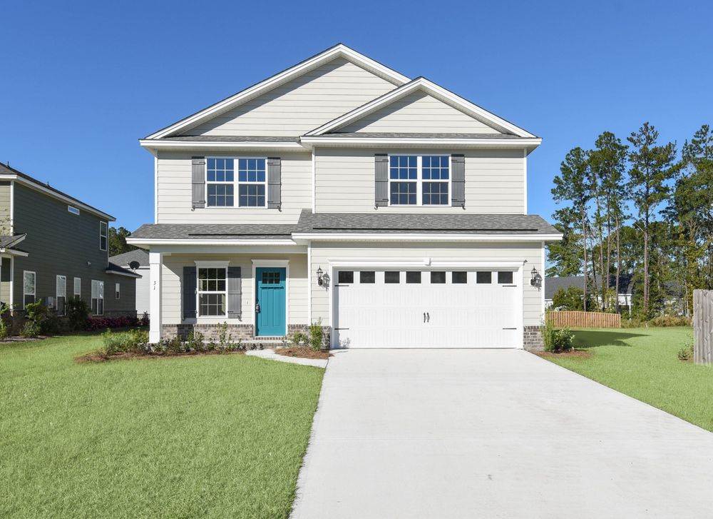 Elevation D - with upgraded front door and carriage garage doors - *Custom Selections*